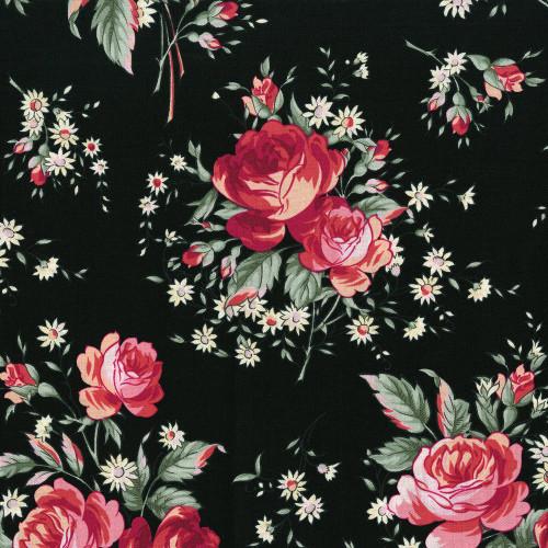 "Printed Cottons Rosette ""Jardin"""