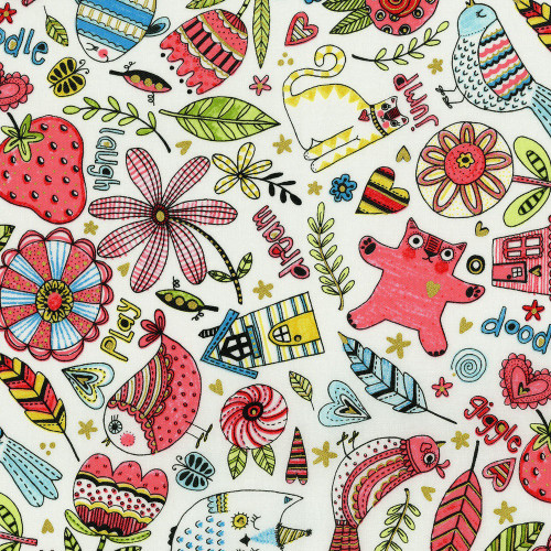 Printed Cottons: Doodle Pop by Lori Woods
