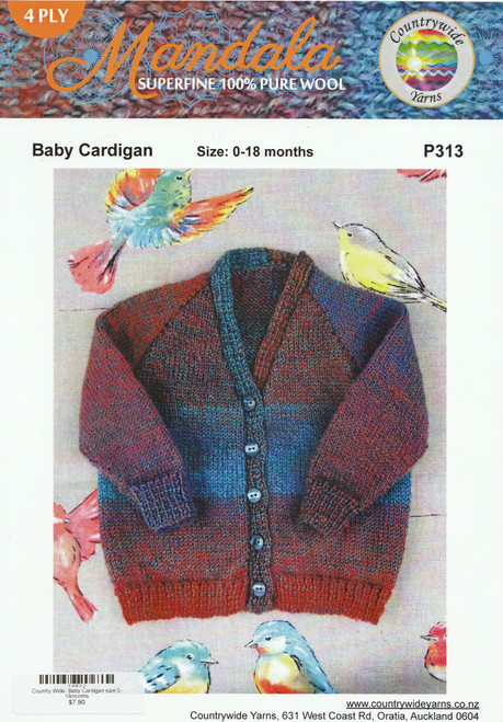 Countrywide: Baby Cardigan size 0-18months