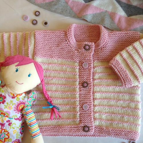 Touch Yarns: Child's Garter Stitch Trim Cardigan