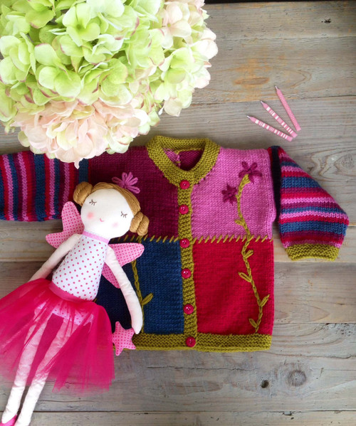 Touch Yarns: Child's Patchwork Cardigan