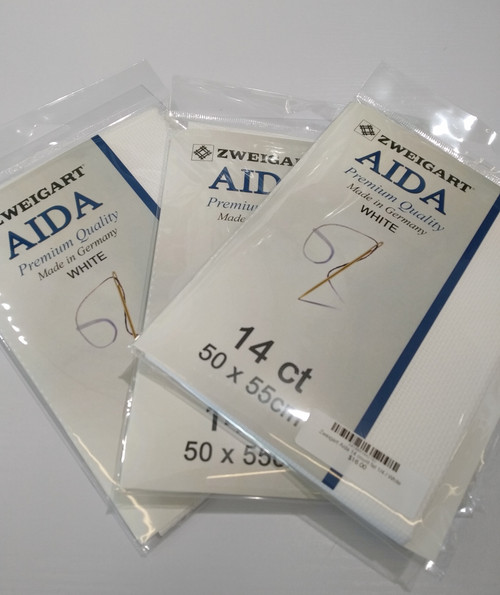 Zweigart Aida 14 count fat 1/4
