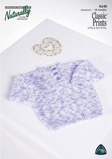 Classic Prints: Sweater Texture Yoke K640