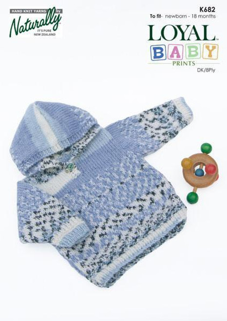 Naturally Baby prints: Hooded Sweater K682