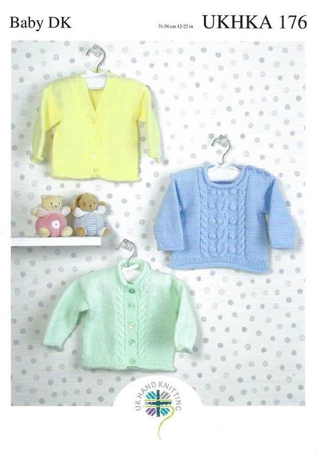 UKHKA: Baby Cardigans & Sweater 176