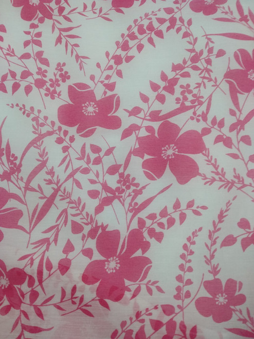 Dress Fabric: Pink Floral