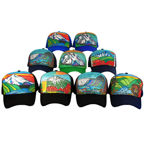 Super Custom Hand Painted Trucker Hat
