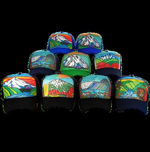 Super Custom Hand Painted Trucker Hat
