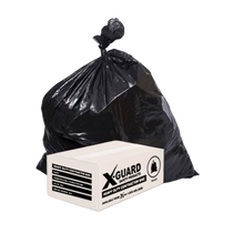 "X-GUARD GARBAGE BAGS BLACK HEAVY DUTY 2MIL 35""X50"" 100/BX"