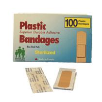 """PLASTIC BANDAGES 3/4"""" X 3"""" 100/BOX"""