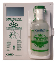EYEWASH STATION WITH 1 - 1 LITER (EMPTY) BOTTLE