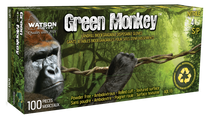 GREEN MONKEY NITRILE GLOVES 4 MIL MEDIUM (100/BX)