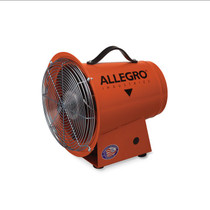 """ALLEGRO 8"""" AXIAL EXPLOSION-PROOF BLOWER W/ CANISTER & 25' STATICALLY CONDUCTIVE DUCTING"""