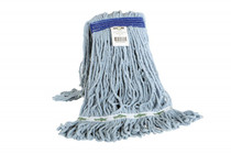 GLOBE SYNTHETIC LOOPED END WET MOP NARROW BAND BLUE 16OZ