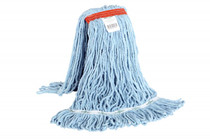 GLOBE SYNTHETIC LOOPED END WET MOP NARROW BAND BLUE 20OZ