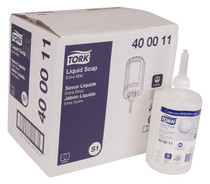 TORK 400011 EXTRA MILD NON-SCENTED LIQUID HAND SOAP 1L CS/6