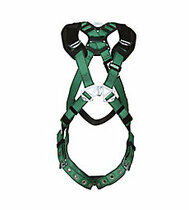 MSA V-FORM HARNESS EXTRA LARGE W/ BACK & SHOULDER D-RINGS TONGUE BUCKLE LEG STRAPS