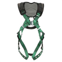 MSA V-FORM+ HARNESS STANDARD W/ BACK D-RING TONGUE BUCKLE LEG STRAPS