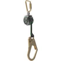 MSA V-TEC MINI PERSONAL FALL LIMITER 6' SINGLE-LEG 36SCL SNAPHOOK STEEL CARABINER