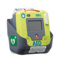 "ZOLL AED 3 PVC WALL MOUNT BRACKET MATTE GREY 9.25""W X 7"" H X 4.5""D"