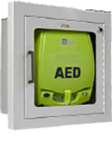 ZOLL AED PLUS FULLY RECESSED ALARMED WALL MOUNT CABINET