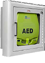 ZOLL AED PLUS ALARMED SEMI-RECESSED WALL CABINET