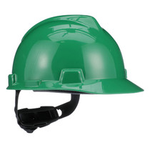 MSA V-GARD HARD HAT GREEN TYPE 1 FAS-TRAC RATCHET SUSPENSION