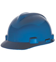 MSA SUPER-V HARD HAT BLUE TYPE 2 FAS-TRAC SUSPENSION