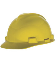 MSA SUPER-V HARD HAT YELLOW TYPE 2 FAS-TRAC SUSPENSION