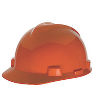 MSA SUPER-V HARD HAT ORANGE TYPE 2 FAS-TRAC SUSPENSION