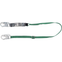 MSA V-SERIES STANDARD SINGLE-LEG ADJUSTABLE ENERGY ABSORBING LANYARD 6' 36C SMALL SNAPHOOK