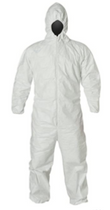 X-GUARD POLYPRO COVERALLS WITH HOOD, ELASTIC WRISTS & ANKLES 1X CS/25