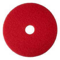 "3M 5100 RED BUFFER FLOOR PAD 20"" 5/CS"