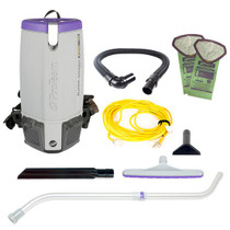 PROTEAM SUPERCOACH PRO 10 BACKPACK VACUUM W/ XOVER TOOL KIT