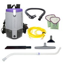 PROTEAM SUPERCOACH PRO 6 BACKPACK VACUUM W/ XOVER TOOL KIT