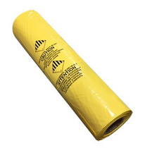 POLY BAGS 33 X 45 YELLOW PRINTED 6MIL (50/ROLL)