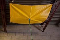 ROOF LEAK DIVERTER 2.5' X 2.5' VINYL-COATED FABRIC
