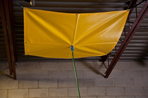 ROOF LEAK DIVERTER 7' X 7' VINYL COATED FABRIC