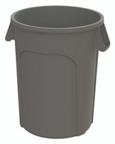 GLOBE 32 GAL WASTE CONTAINER GREY