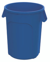 GLOBE 32 GAL RECYCLE CONTAINER BLUE