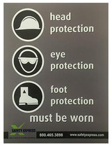 "X-GUARD PERSONAL PROTECTIVE EQUIPMENT SIGN 15""X20"""