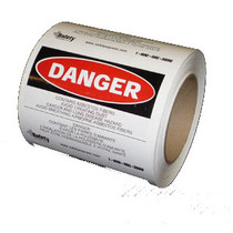 X-GUARD LABELS DANGER ASBESTOS BILINGUAL 4X5