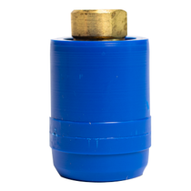 """1/4"""" FEMALE QUICK CONNECT W/ BLUE SAFETY COVER"""