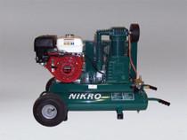 NIKRO 9HP HONDA  2-STAGE 175 PSI PORTABLE GAS POWERED COMPRESSOR