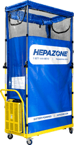 HEPAZONE S PORTABLE CONTAINMENT SYSTEM W/ BATTERY OPERATED HEPA NOMAD