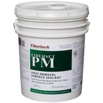 FIBERLOCK FIBERSET PM LOCKDOWN CLEAR 5GAL