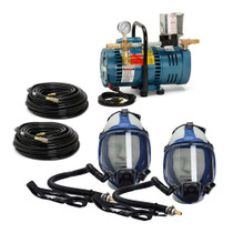 ALLEGRO TWO WORKER FULL MASK SYSTEM W/100' HOSE