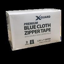 "X-GUARD PK 2.75"" X7' BLUE PEEL AND STICK CLOTH ZIPPER TAPE -2 PER PK"