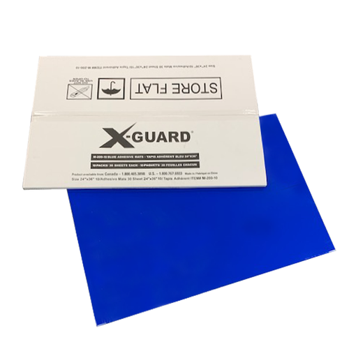 "X-GUARD STICKY MATS 24"" X 36"" BLUE 10/PK"