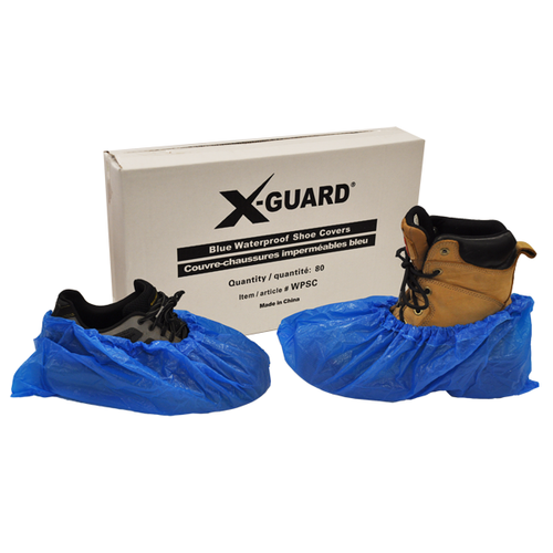 X-GUARD WATERPROOF SHOE / BOOT COVER BLUE (80EA/BX)
